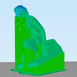 Même objet, prêt à être imprimé, avec ses supports