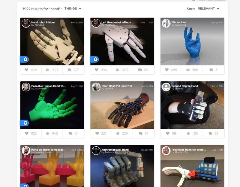 Quelques exemples de fichiers de prothèses librement téléchargeables