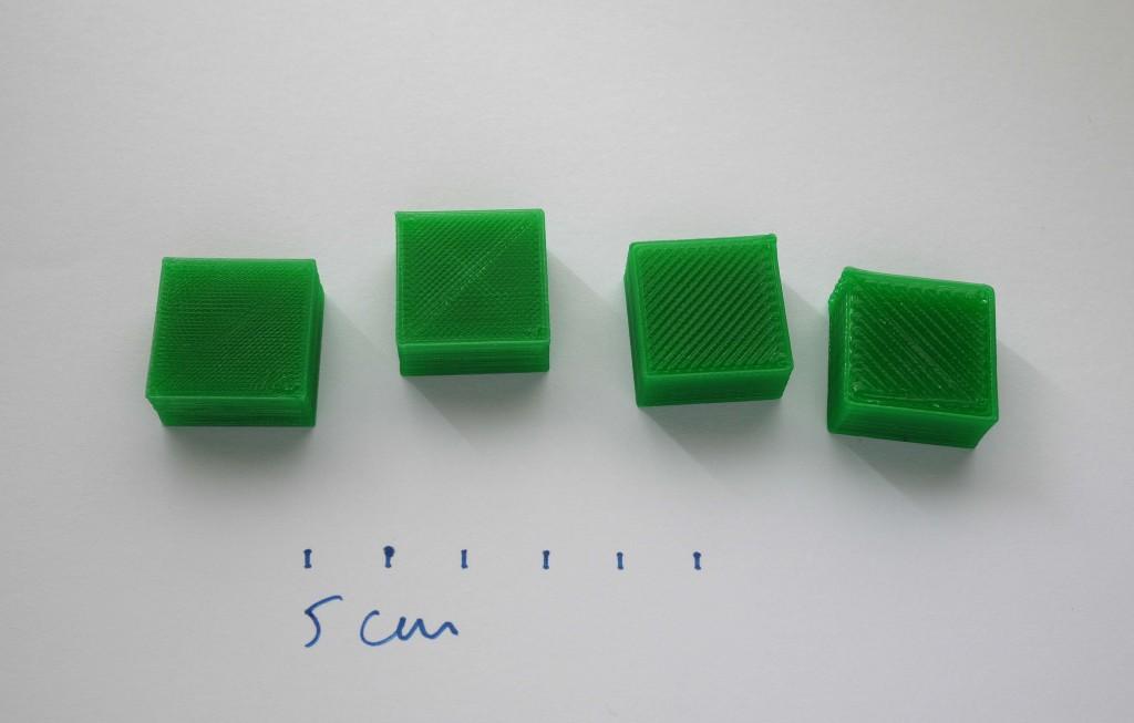 Cubes de calibrage